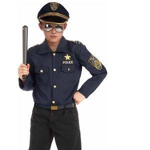 Police Kit Boys Halloween Costume Sz L 10/12